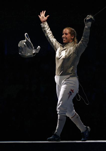 COURTESY: ADRIAN DENNIS/AFP/GETTY IMAGES - Mariel Zagunis, a two-time individual gold medalist from Beaverton, hopes she isn't finished fencing in the Olympic Games.
