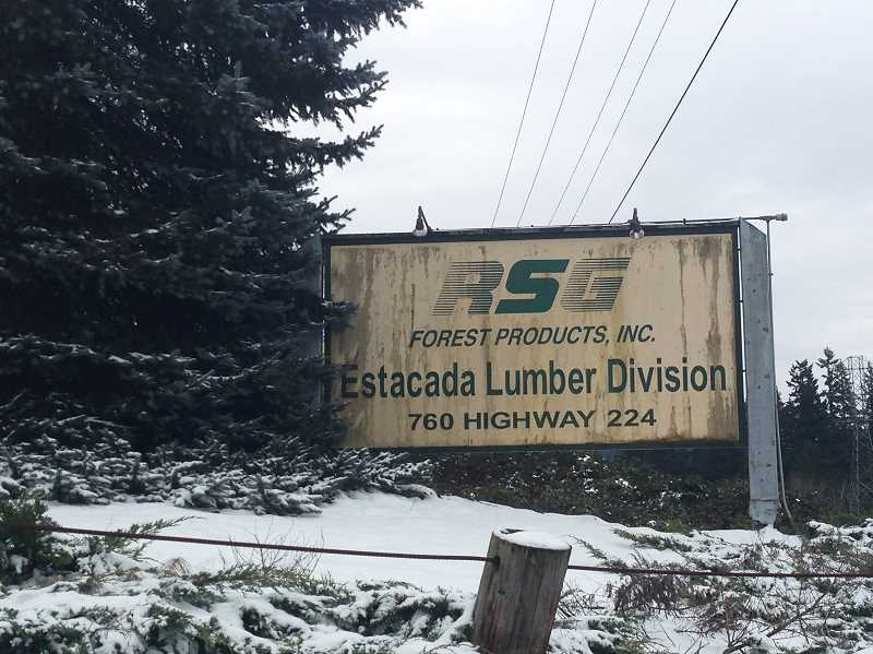 ESTACADA NEWS PHOTO: EMILY LINDSTRAND - The entrance to the site of the former Park Lumber Mill, currently owned by RSG Forest Products, is located off Highway 224 in Estacada. The mill has been closed since 2007.
