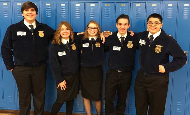 MAKENZIE BEHRLE - Molalla FFA B Team at the state competition, from which they brough home a third-place win Saturday.