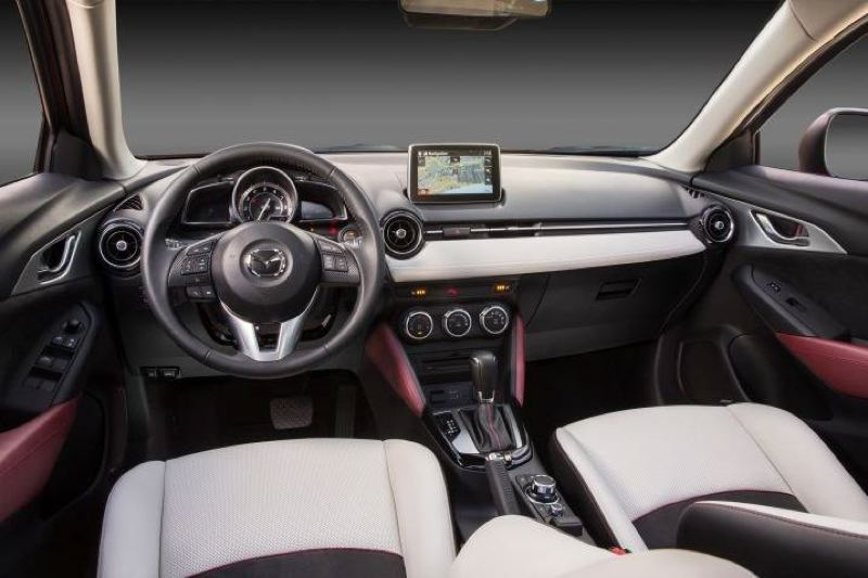 MAZDA NORTH AMERICAN OPERATIONS - The interior of the 2017 Mazda CX-3 is clean and refined, with quality materials and good fit and finish.
