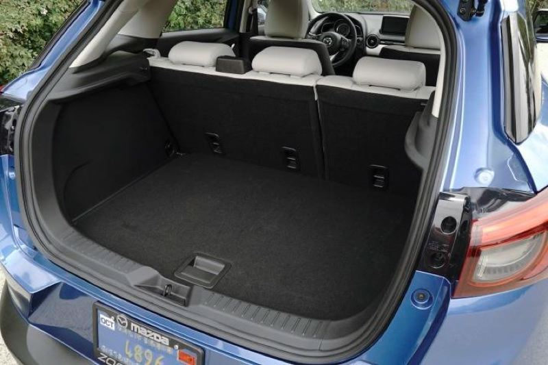 MAZDA NORTH AMERICAN OPERATIONS - Cargo space is limited in the 2017 MAzda CX-3, although it can be increased by folding down the rear seats.