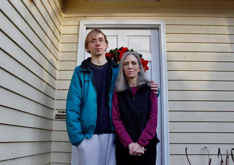 REVIEW PHOTO: KELSEY OHALLORAN - Cynthia Johnson says she had hoped to one day leave her Lake Oswego home to her son Shane Johnson. But after mounting financial and medical problems, the family now is facing a Jan. 5 eviction.