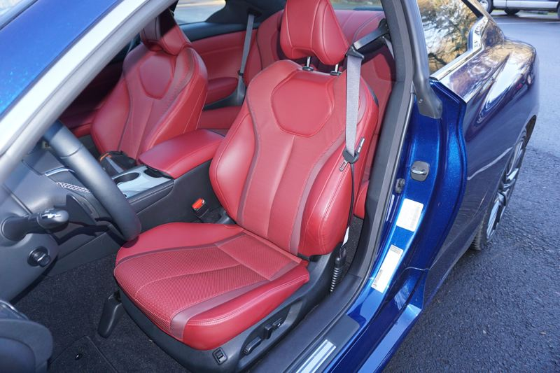 PORTLAND TRIBUNE: JEFF ZURSCHMEIDE - Inside, you get a truly sporty interior but not the kind that is uncomfortable for larger drivers. The seats will fit a full-size man comfortably, and you can adjust for a wide range of heights and driving positions.