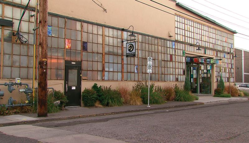COURTESY KOIN 6 NEWS - Glass production at the Uroboros plant in North Portland will halt in May, shifted to Tijuana, Mexico.