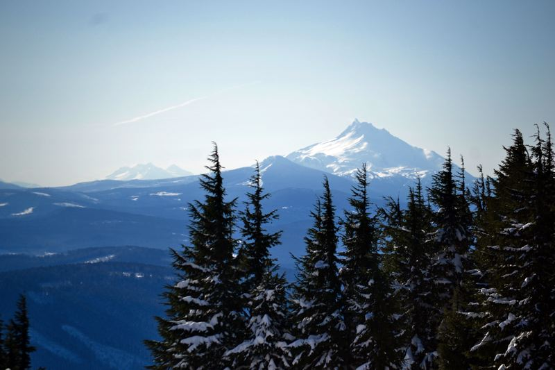 POST PHOTO: BRITTANY ALLEN - A view from Mount Hood on the day of the survey.