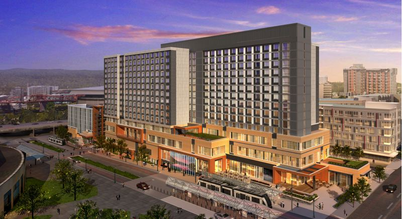 PAMPLIN MEDIA GROUP FILE PHOTO - The Oregon Convention Center's new hotel is hitting delays.