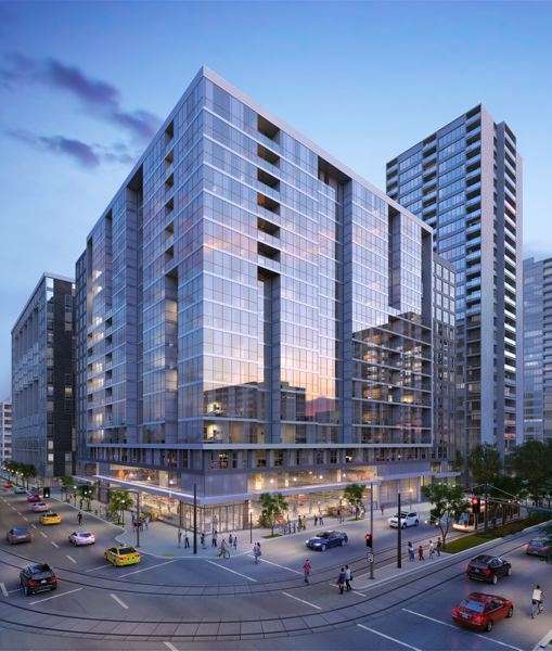 SUBMITTED: CORE SPACES - The development includes studios, one-, two- and three-bedroom units and 156 parking spaces.