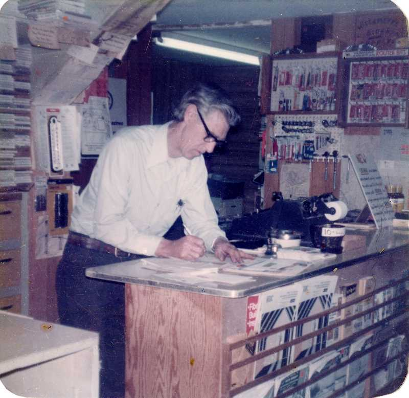 SUBMITTED PHOTO - Ben Fritchie Jr. inside the store, which during his tenure was primarly building supplies and hardware.