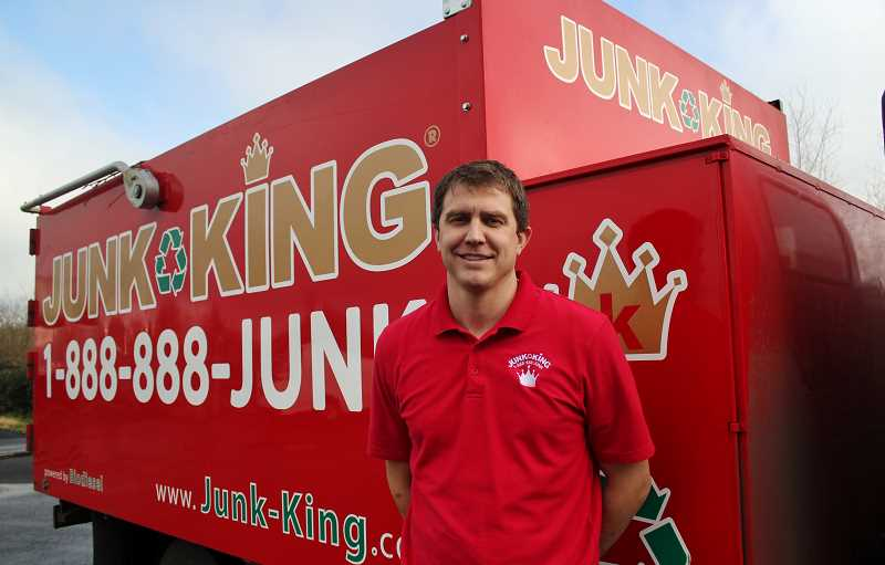STAFF PHOTO: KELSEY OHALLORAN - Jason Edge is the owner of Junk King Portland.