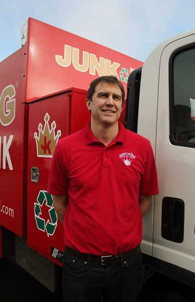 STAFF PHOTO: KELSEY OHALLORAN - Edge says Junk King prioritizes recycling and customer service.