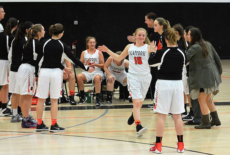 SPOTLIGHT PHOTO: JAKE MCNEAL - Sophomore guard Sara Mills (10) and the Indians will hit the road for No. 1 Cascade on Friday in Turner.