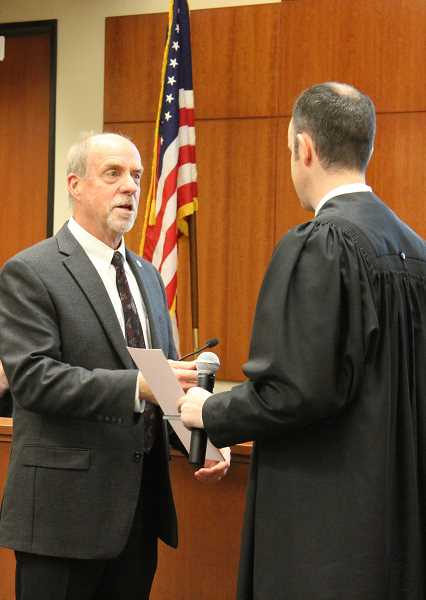 TIDINGS PHOTOS: PATRICK MALEE - Russ Axelrod was sworn in as mayor Jan. 3, marking the beginning of his first full term after filling out the end of former Mayor John Kovashs tenure.