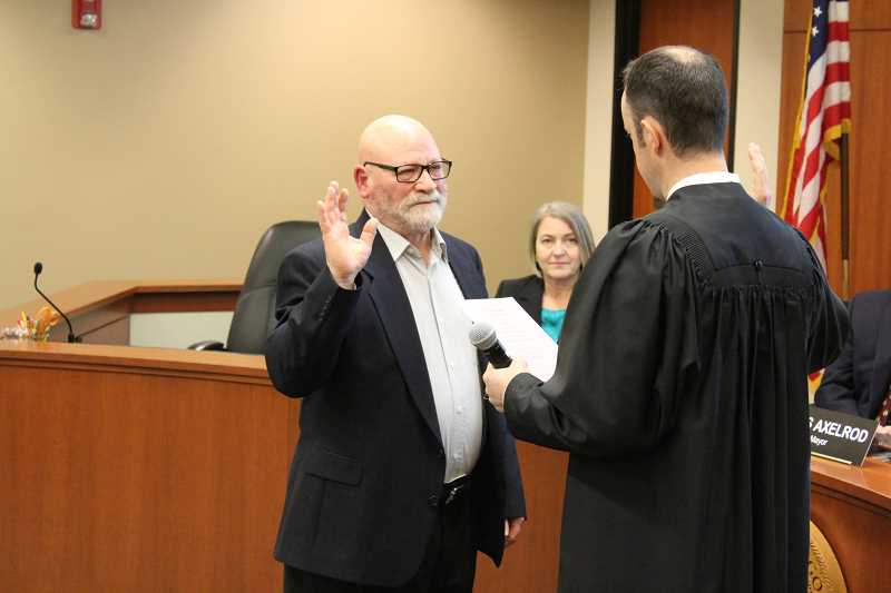 Rich Sakelik was sworn in as a first-time City Councilor.