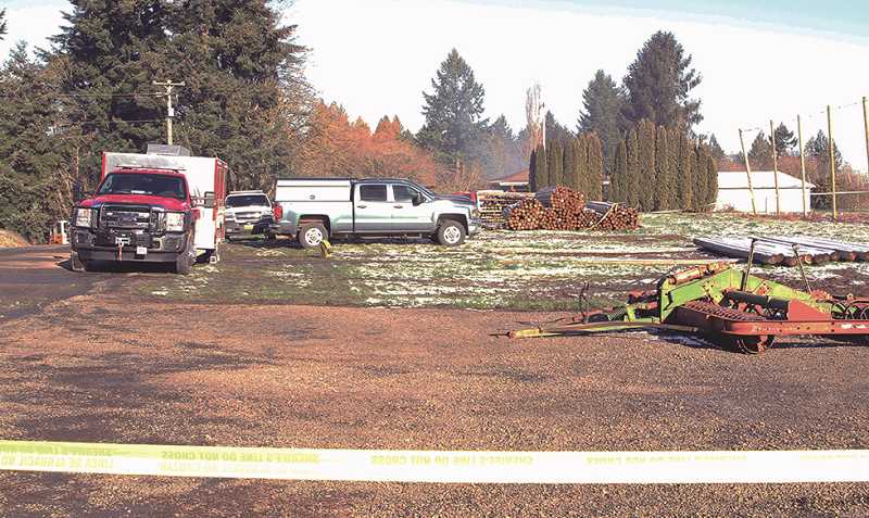 LINDSAY KEEFER - Dozens of first responders and investigators surrounded the Kroeker family property on Fobert Road east of Hubbard following three fires set to three separate buildings.