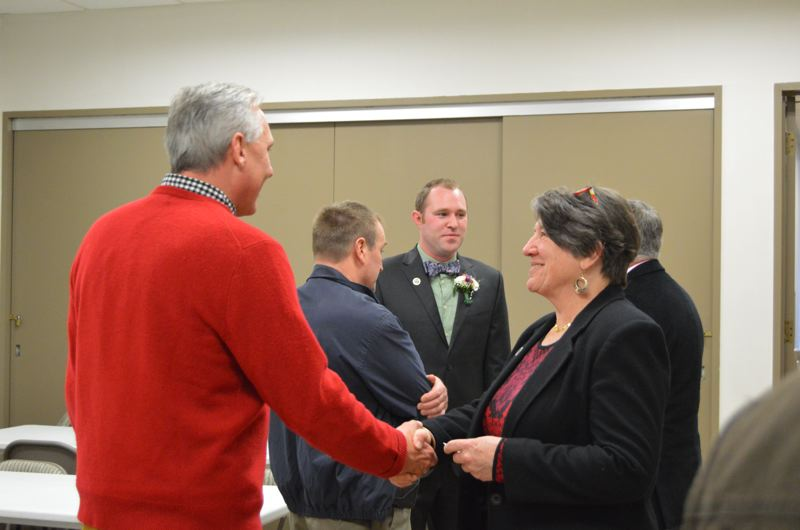 SPOTLIGHT PHOTO: COURTNEY VAUGHN - Commissioners meet and greet the public Tuesday, Jan. 3.