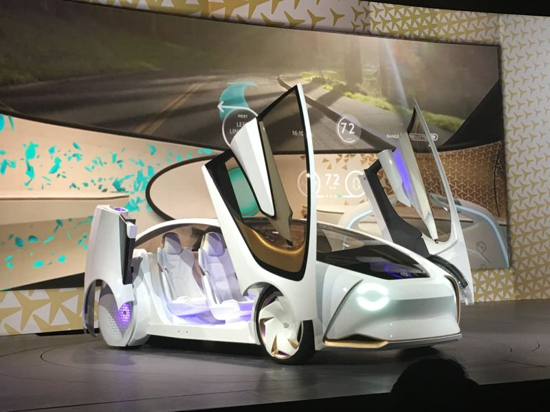 PORTLAND TRIBUNE: JEFF ZURSCHMEIDE - Toyota's Concept-i prototype electric autonomous car was unveiled at the Consumer Electronics Show in Las Vegas this week. Toyota and other automakers expect to offer vehicles with increasing autonomous capabilities in the next three years.