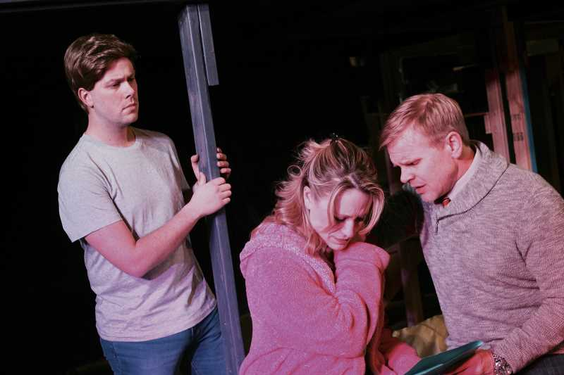 COURTESY PHOTO - Left to right, Johnathan Swartout, Jennifer Yamashiro, and James Grimes will appear in Theatre in the Groves production of 'Next to Normal.' opening Friday.