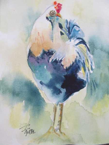 SUBMITTED PHOTO - Toni Tyrees paintings all have a softness and focus on aesthetically pleasing aspects of nature, from landscapes to animals.