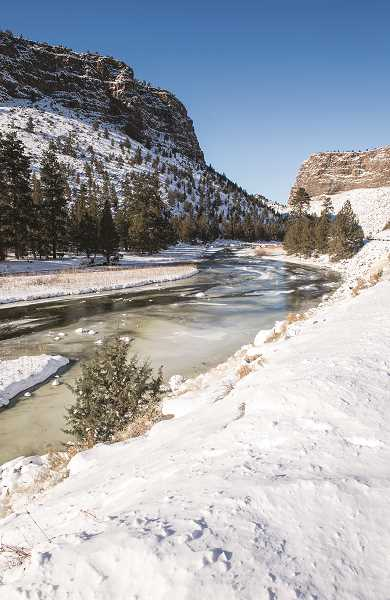 LON AUSTIN/CENTRAL OREGONIAN - Crooked River was partly iced over with the recent subzero temperatures.