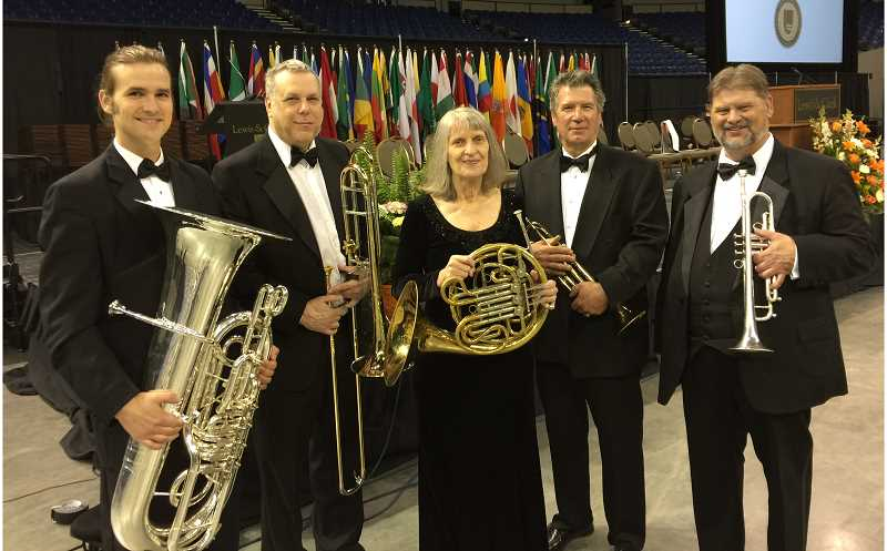 The Montavilla Brass Quintet will perform Saturday, Jan. 14, at the Canby Public Library at 2:30 p.m. as part of the Music in the Stacks program.