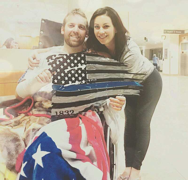 COURTESY JEFF CEDERBERG - Nic Cederberg and his wife Haley at OHSU on Tuesday, Jan. 10.