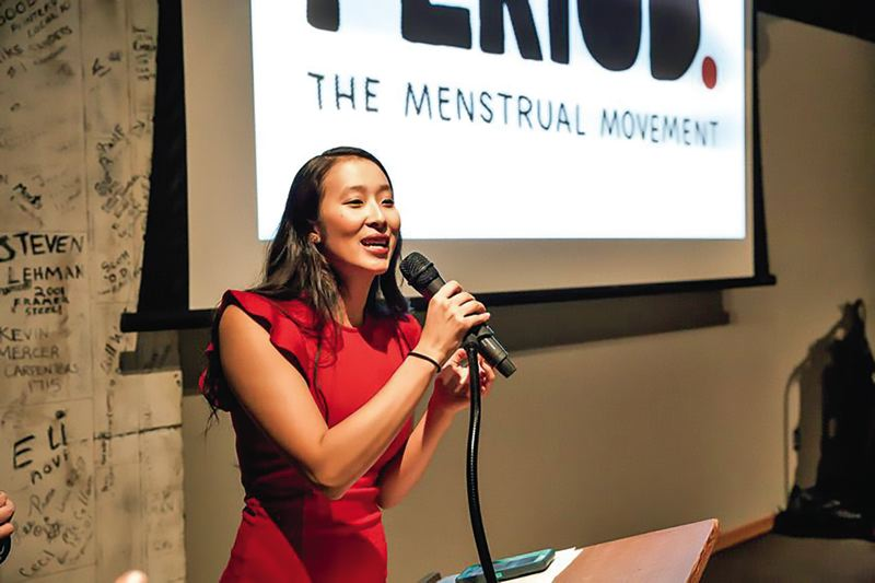 COURTESY CAMIONS OF CARE - Nadya Okamoto recently changed the name of her organization from Camions of Care to Period., with a tagline 'The Menstrual Movement.'