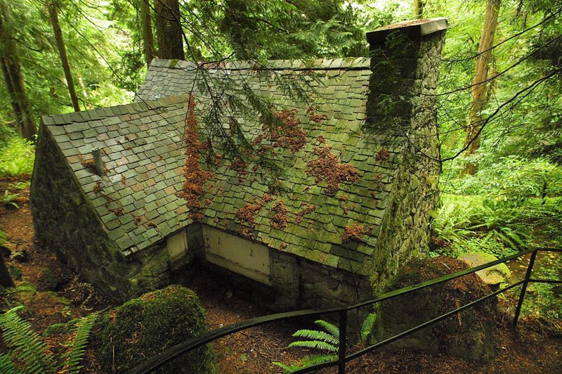 PAMPLIN MEDIA GROUP FILE PHOTO - John and Lilla Leach lived in this stone house while the main manor was being built in the 1930s. They left the grounds and 2,000 species of plants to the City of Portland.