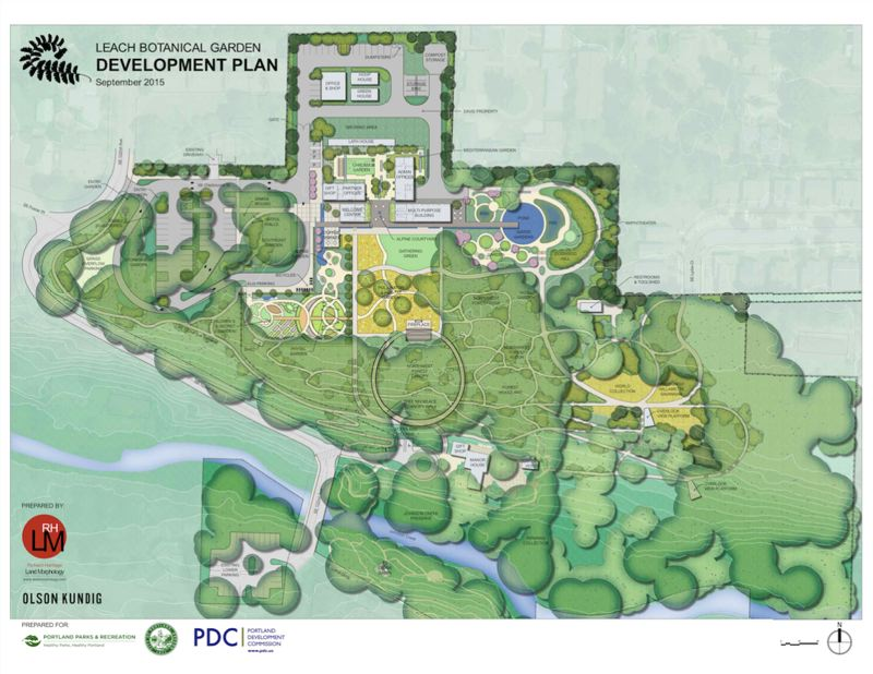 SOURCE: PDC - Eight acres of the upper garden is undeveloped, and the new plans offer botanical and programmatic experiences to visitors, and connect to the historic garden and manor house along Johnson Creek.