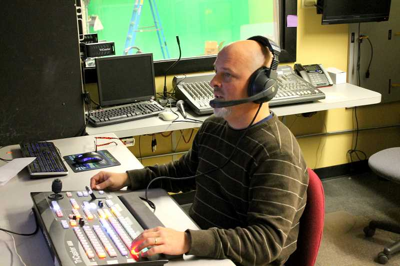 TIDINGS PHOTO: ANDREW KILSTROM - Troy Stoeber mans control room during filming and also does all the editing for the talk show.