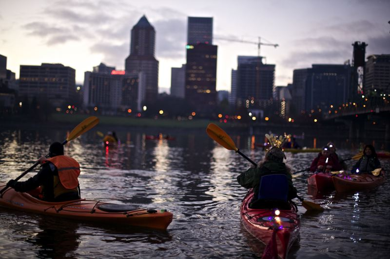 COURTESY: TRAVEL PORTLAND - Any kind of movement on the Willamette River, including kayaking, can be a refreshing and invigorating form of exercise in 2017.