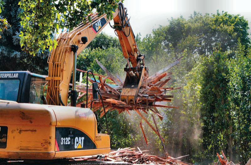 PORTLAND TRIBUNE FILE PHOTO - Residential demolition are continuing to increase as the demand for new homes in close-in Portland neighborhoods keeps on growing.