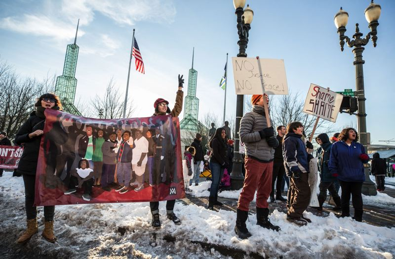 Activists take to icy streets to reclaim King's legacy