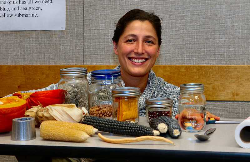 DAVID F. ASHTON - During her class Introduction to Seed Saving, Portland urban farmer Jennie London sows the idea of stewarding, instead of buying, seeds.