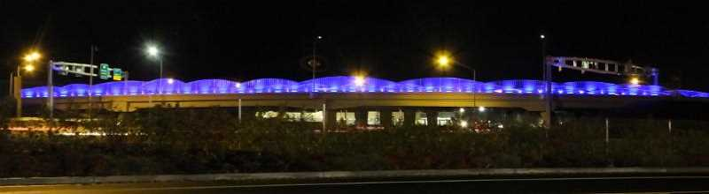 Overpass lights change colors