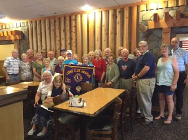 COURTESY OF KING CITY LIONS CLUB - At one of the fall bi-monthly King City Lions Club luncheon meetings, everyone in attendance posed for a group photo.
