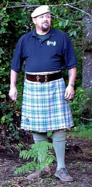 COURTESY PHOTO: ROBERT MACGREGOR - Robert MacGregor says he will donate his kilt made of his Oregon tartan if the Legislature makes it the official state tartan.