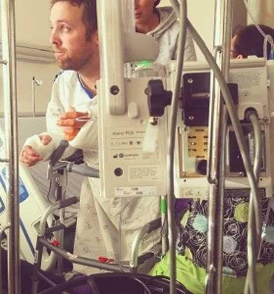 COURTESY OF KOIN 6 - OSP Trooper Nic Cederberg is shown earlier in his recover at OSHU Medical Center.