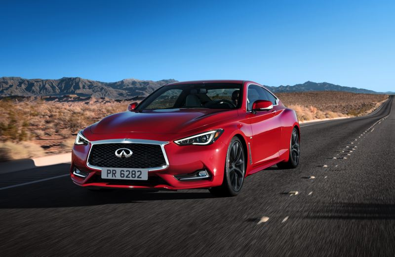 COURTESY INFINITI - The 2017 Infiniti Q60 is an aggressively styled sports coupe designed to complete with the best in the world.