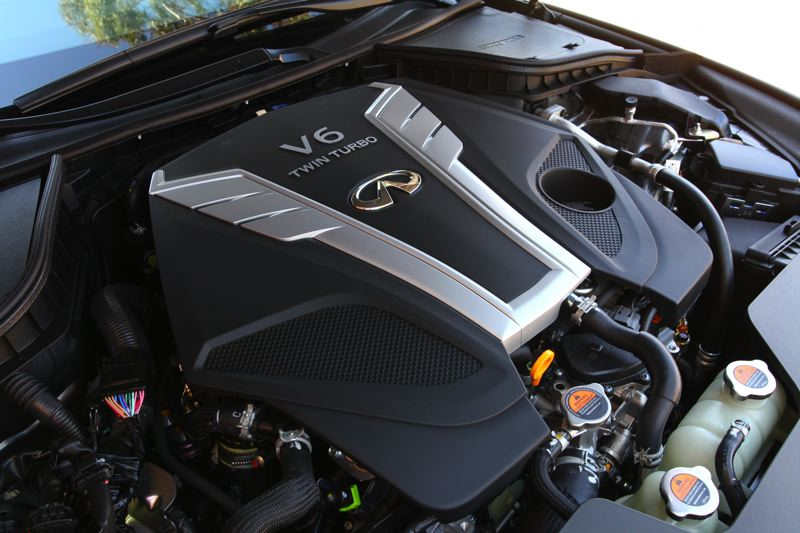 COURTESY INFINITI - The 2017 Infiniti Q60 sports coupe is available with three engines, inlcuding two turbocharged V6 powerplants to produce 300 and 400 horsepwoer, respectively.