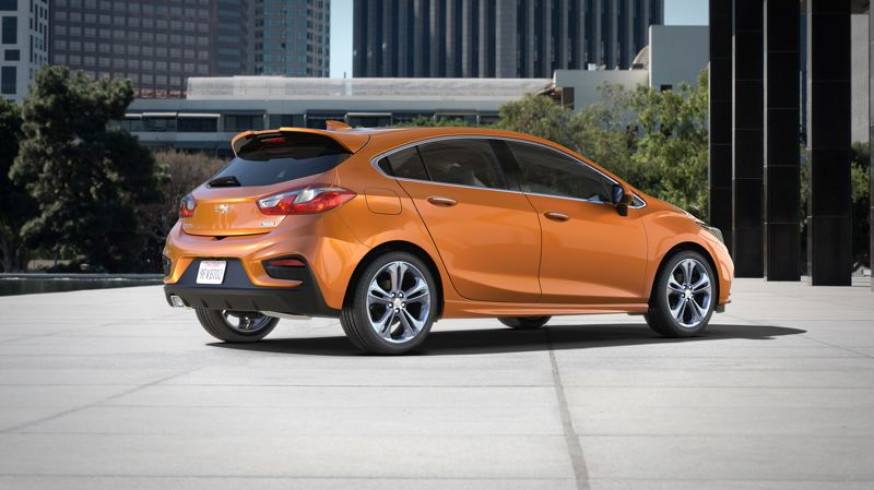 COURTESY CHEVROLET - The new hatch is well integrated into the lines of the Cevy Cruze sedan, resulting in an even sportier looking compact economy car.