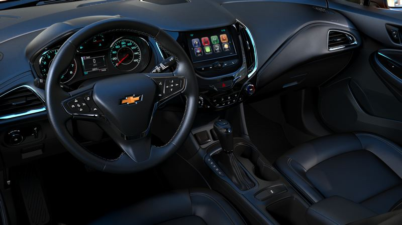 COURTESY CHEVROLET - The interior of the 2017 Chevy Cruze can be fully loaded with all the latest technologies.