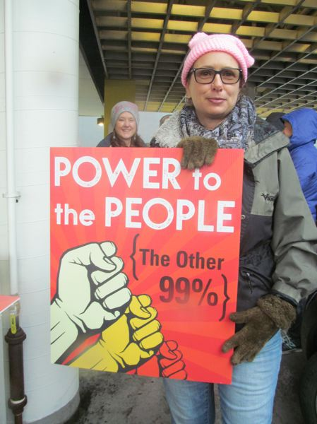 PHOTO BY ELLEN SPITALERI - Kris Yannelli traveled from Ashland to be part of the Women's March on Portland. She said she was pleased to see so many people called to action.