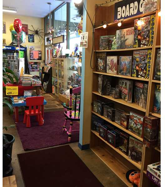 SUBMITTED PHOTO BY GEORGINA YOUNG-ELLIS - Other Worlds Games and Comics sells a variety of board games, comics and collectibles in Hillsdale.