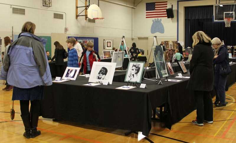SUBMITTED PHOTO - Lake Oswego's Youth Action Council hosted a teen art showcase and silent auction Jan. 6 to raise funds for the Childrens Healing Art Project.