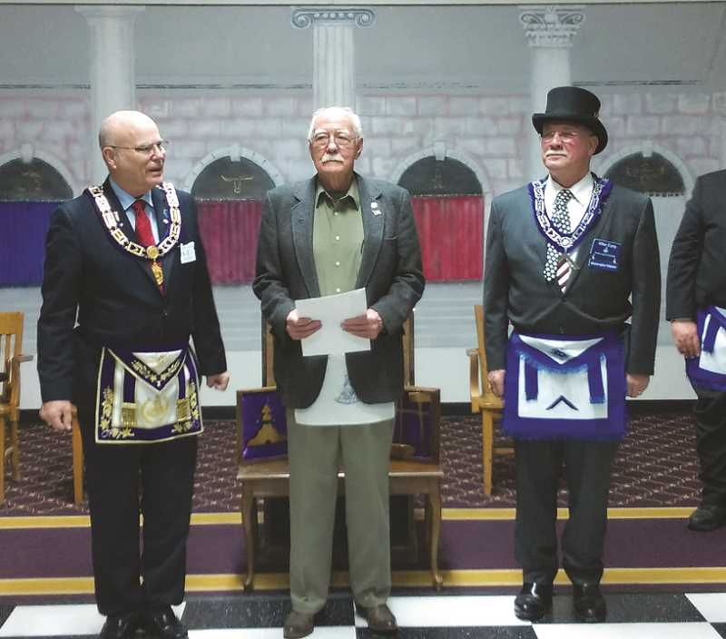 Masons host visitors from Grand Lodge