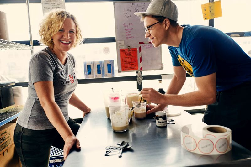 SUBMITTED: SALT & STRAW - Co-founders Kim Malek and cousin Tyler Malek in the kitchen.