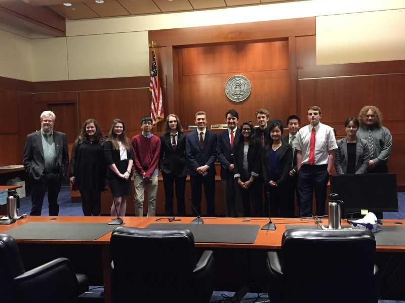 SUBMITTED PHOTO: COURTESTY OF LOHS - Lake Oswego High School students took fourth in the state We The People competition.