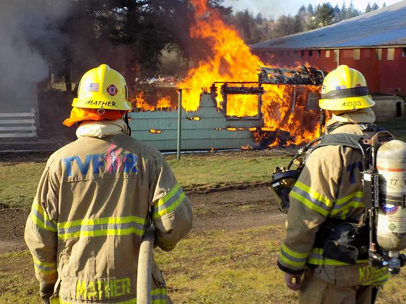 Training burn provides unique opportunity for TVF and R firefighters