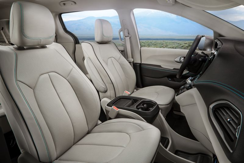 COURTESY FCA US - The interior of the 2017 Chrysler Pacifica is roomy and comfortable, and can be ordered with leather and other high grade materials.