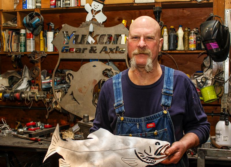 HILLSBORO TRIBUNE PHOTO: TRAVIS LOOSE - From his shop in Aloha, Luxenberg produces a wild array of work, both for profit and charity.